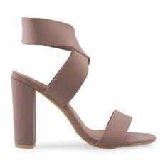 Mocha Lycra Sandal - Sandals   YDE South African Fashion, Beige Heels, Toe Shape, Mocha, Heeled Mules, Shoes Sandals, Women, Woman