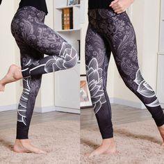 Women-Waist-Yoga-Fitness-Leggings-Running-Gym-Stretch-Sports-Pants-Trousers