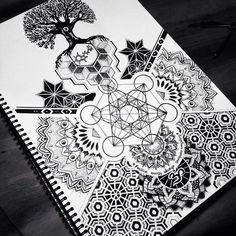Sacred geometry full sleeve / Tattoo commission on Behance