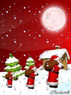 Чем больше Морозов тем больше подарков! - анимация на телефон №1210220