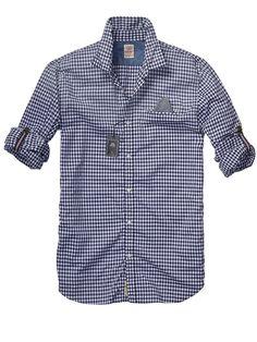 Crispy Poplin Shirt With Fixed Pochet > Mens Clothing > Shirts at Scotch & Soda - $105