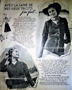 GRATUITS 30 patrons modèles TRICOT Vintage 1947-1950