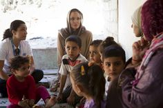 UNHCR Special Envoy Angelina Jolie meets with Syrian refugees in the Bekaa Valley, Lebanon.© UNHCR/J.Tanner