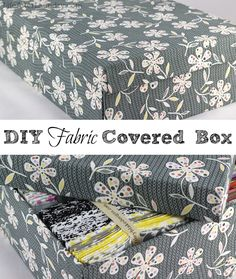DIY Fabric Covered Box with Lid  LifeAfterLaundry.com  #DIY #Crafts #Organization
