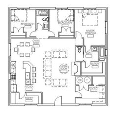 Needed an efficient house plan for my recent land purchase on the lake and th Barn Homes Floor Plans, Cottage Floor Plans, Pole Barn House Plans, Small House Floor Plans, Barndominium Floor Plans, Cottage House Plans, New House Plans, Dream House Plans, Dream Houses