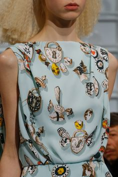 (PRINT) Schiaparelli Spring 2016 Couture Fashion Show Details