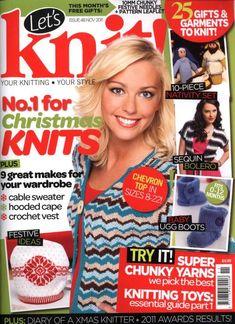 Lets Knit 48 2011 11 Knitting Books, Knitting Kits, Knitting Patterns Free, Knitting Yarn, Baby Knitting, Knit Patterns, Stitch Patterns, Crochet Book Cover, Crochet Books