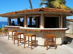 construction of the outdoor countertop - Nice Design Ideas Of Outdoor Bar Furniture With Wooden Square Shape Backless Stools Also Combine With Wooden Bars Countertops With Bar Height Patio Table  Also Balcony Furniture of Exciting Outdoor Bar Furniture Design Ideas from Furniture Ideas