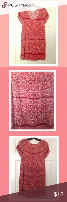 """PacSun Boho Burgundy and Burnt Orange Dress Excellent used condition. Smoke and pet free home home. Brand is """"LA Hearts."""" Could be worn as a dress or a tunic! Looking to only sell on Posh. LA Hearts Dresses"""