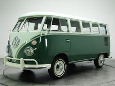 1963-67 Volkswagen T-1 Deluxe Bus van classic r wallpaper background