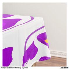 Purple Lilies Pattern Tablecloth