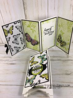 My Last Sale A Bration Inspiration - Frenchie Stamps Fancy Fold Cards, Folded Cards, Sister Cards, Screen Cards, Simple Birthday Cards, Butterfly Crafts, Paper Products, Paper Cards, Homemade Cards