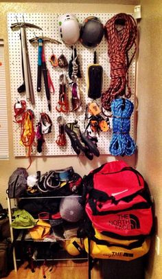 We finally organized our climbing gear