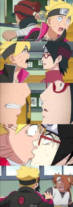 Boruto and Sarada's First Kiss ❤️ That's how it should have looked like ❤️❤️❤️ Episode 38