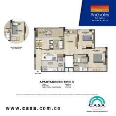 Apartamentos en el Retiro con área de 77.37 - 77.77 m2.  #adquieretuapartamento #apartamentosenelretiro #nuevoproyecto