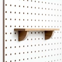 Pegboard Shelf from Block is the ideal way to display and organise pictures and treasured items. Block's wooden pegboard shelf fits all Block pegboards.
