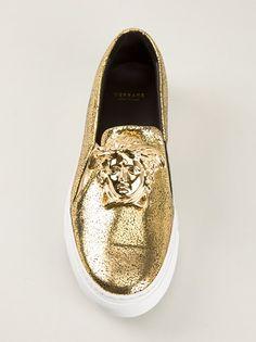 VERSACE medusa head slip on sneaker #Versace #VersaceSneakers