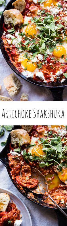 Artichoke Shakshuka   halfbakedharvest.com @hbharvest