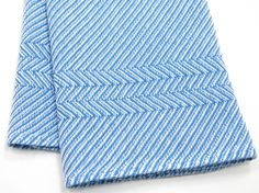 Blue Kitchen Towel Handwoven by LindaHighHandweaver on Etsy