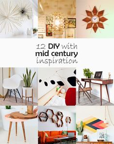 Ohoh Blog : DIY Monday # Mid century inspiration