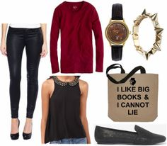 JCP Coated Jeans Outfit 3