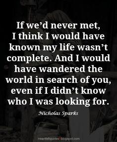 Nicholas Sparks Romantic Love Quotes