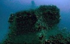 A partial view of a British submarine taken from a video of the search