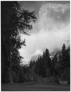 ansel adams - el capitan, winter, sunrise, yosemite national park, california. 1968, printed 1974, gelatin silver print (the metropolitan museum of art, ny)
