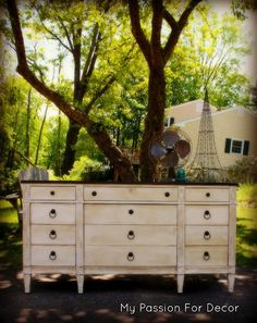 New Blog Post...Dresser Redo With Annie Sloan Chalk Paint In Pure White