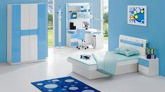 Kinderzimmer Junge Kindermöbel in Weiß-Blau