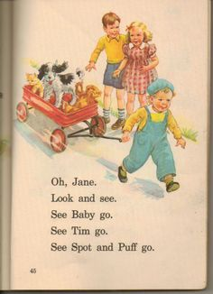Dick and Jane reading books
