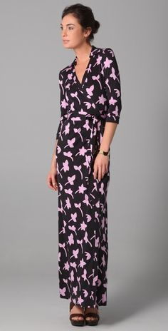 Dvf Spring 2014 Long Maxi Wrap Dress This DVF maxi dress takes maxi