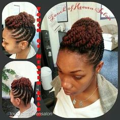 Flat twisted updo