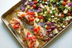 Sheet Pan Bruschetta Chicken and Vegetables - The Kitcheneer