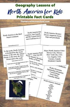 Here are some Geography lessons of North America for Kids! We show you how we learned and what we learned about that wonderful continent.