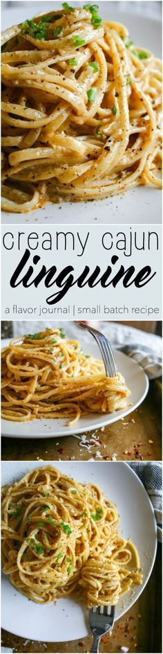creamy spicy decadent cajun cream sauce coats every strand of this linguine pasta dish. topped with parmesan cheese an