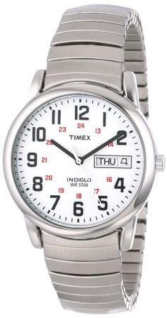 """Timex Men's T20461 """"Easy Reader"""" Stainless Steel Watch Timex http://www.amazon.com/dp/B000B5459Q/ref=cm_sw_r_pi_dp_HvZ-tb0G4EMDV"""