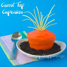 Hungry Happenings: How to make edible cupcake wrappers to make Carrot Top Cupcakes