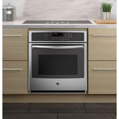 cooktops with oven below single wall oven with a electric oven stove Kitchen Oven, Small Kitchen Appliances, Cool Kitchens, Loft Kitchen, Kitchen Board, Kitchen Interior, Kitchen Gadgets, Kitchen Island, Oven Cabinet