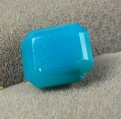 Gem Silica 1.59 ct Chrysocolla Ray mine AZ 7.5 x 6.5 mm Emerald Cut Gem Beauty
