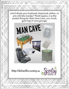 Man caves have to smell nice too! Get dad some scentsy to spice up his day #FathersDay order: https://cyndeebigness.scentsy.us/Scentsy/