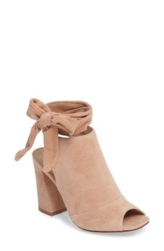 Free shipping and returns on Kristin Cavallari Leeds Peep Toe Bootie (Women) at Nordstrom.com. Soft suede and a high vamp define this cool-weather transition bootie outfitted with a squared peep toe and wraparound straps that tie above the ankle.