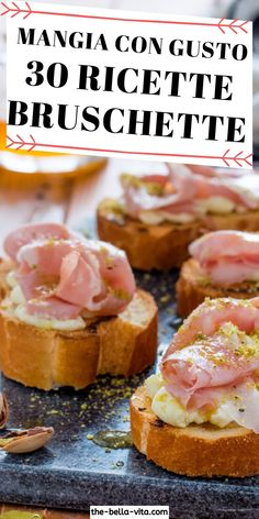 Prosciutto, Fast And Slow, Party Finger Foods, Anti Inflammatory Recipes, Antipasto, Bruschetta, Street Food, Sandwiches, Brunch