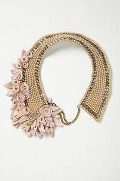 Blushing Pearl Bib Necklace #anthropologie