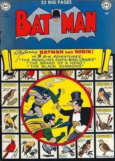 Batman 58 Comic Cover Penguin (Rare)