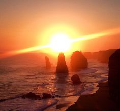 The Twelve Apostles off Great Ocean Road in Australia. We made it for sunset which was amazing so we decided to camp out and go back again for sunrise in the morning #twelveapostles #greatoceanroad #victoria #vic #australia #sunset #travel #wanderlust #camping by wanderlust_traveldiary