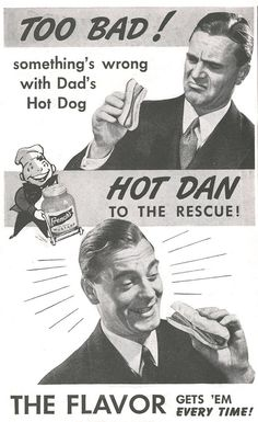 Something's wrong with Dad's hot dog.