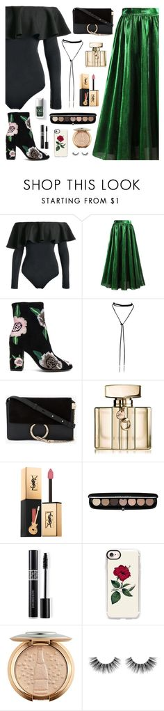 """What to Wear to NYFW"" by dora04 ❤ liked on Polyvore featuring Rebecca Minkoff, Couture Colour, Chloé, Gucci, Yves Saint Laurent, Marc Jacobs, Christian Dior, Casetify and Velour Lashes"