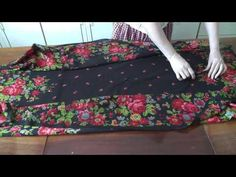 (81) Платье из павлопосадского платка - YouTube