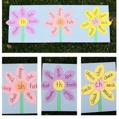 Speech Therapy Activity of the Week: Consonant Digraph Garden - pinned by @PediaStaff – Please Visit  ht.ly/63sNt for all our pediatric therapy pins